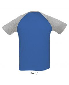 TEE-SHIRT HOMME BICOLORE MANCHES RAGLAN FUNKY