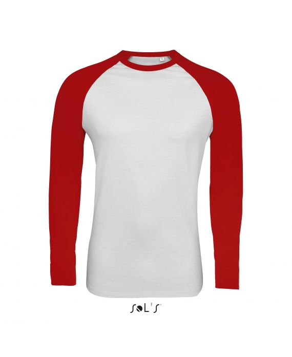TEE-SHIRT HOMME BICOLORE MANCHES LONGUES RAGLAN FUNKY LSL