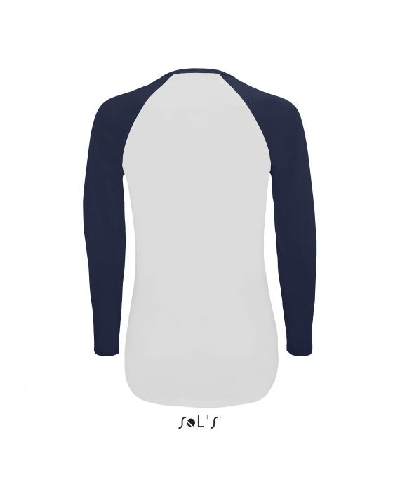 TEE-SHIRT FEMME BICOLORE MANCHES LONGUES RAGLAN MILKY LSL