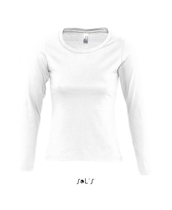 TEE-SHIRT FEMME COL ROND MANCHES LONGUES MAJESTIC