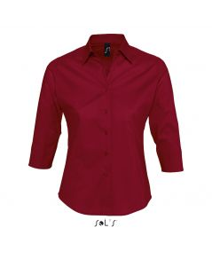 CHEMISE FEMME STRETCH MANCHES 3/4 EFFECT