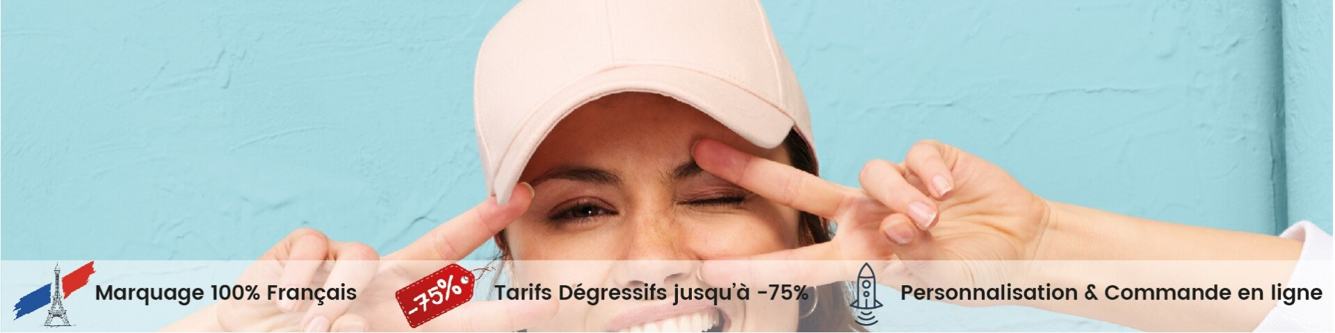 Casquette Personnalisable - Tarifs Dégressifs jusqu'à -75% - Broderie