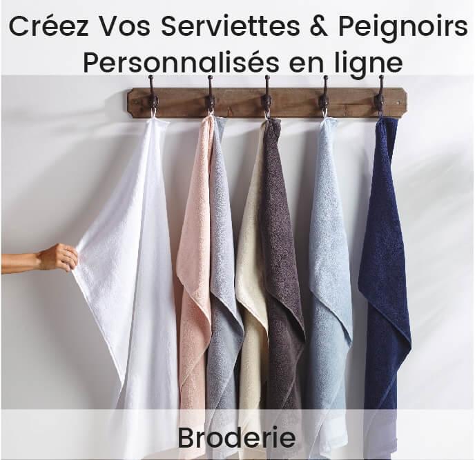 serviette et peignoir de bains personnalisé brodé