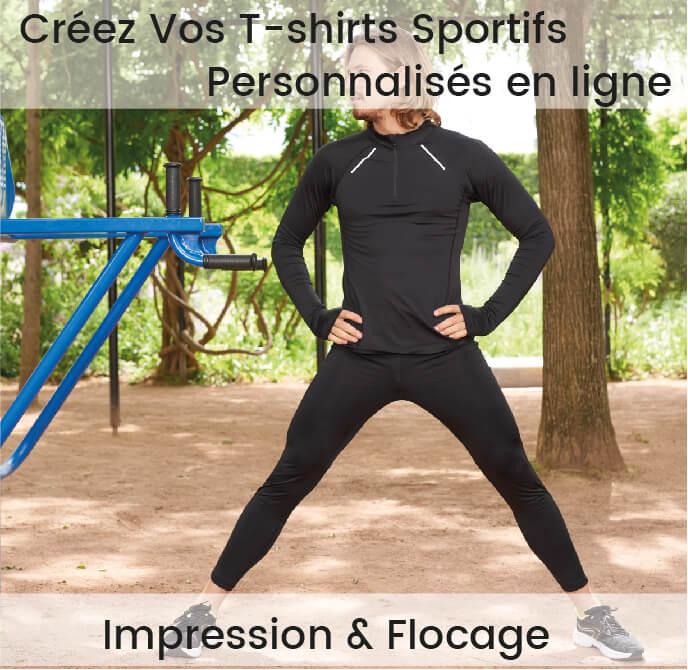 tshirt sport personnalisé impression flocage